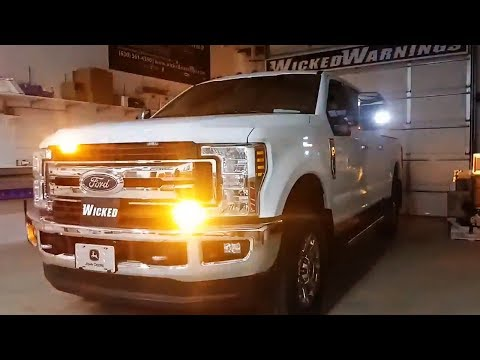 2018 F-250 Superduty Featuring Amber & White Construction Truck Strobe Lights