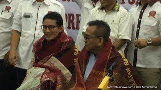 Terima Dukungan dari Ikatan Batak untuk Indonesia Raya, Sandiaga Jadi Objek Seremonial Adat