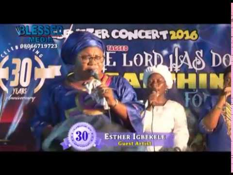ESTHER IGBEKELE AT LAGOS LIVE PERFORMANCE AT CHERUBIM AND SERAPHIM CHURCH EBENEZER PARISH ABULE ODU