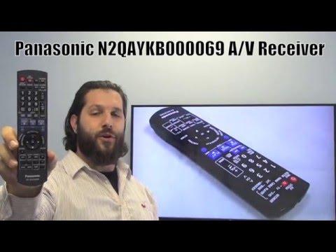Panasonic N2QAKB000069 Audio/Video Receiver Remote Control