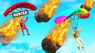 METEOR RAIN In HUNTERS VS SPEEDRUNNERS! (GTA 5)