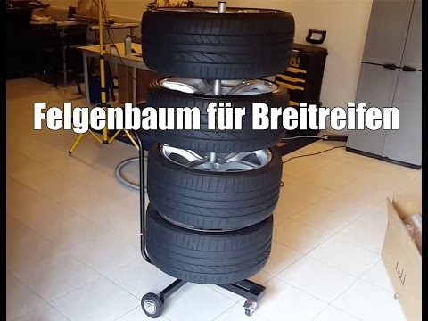 Felgenbaum für Breitreifen - Felgenständer für Reifen mit bis zu 285mm