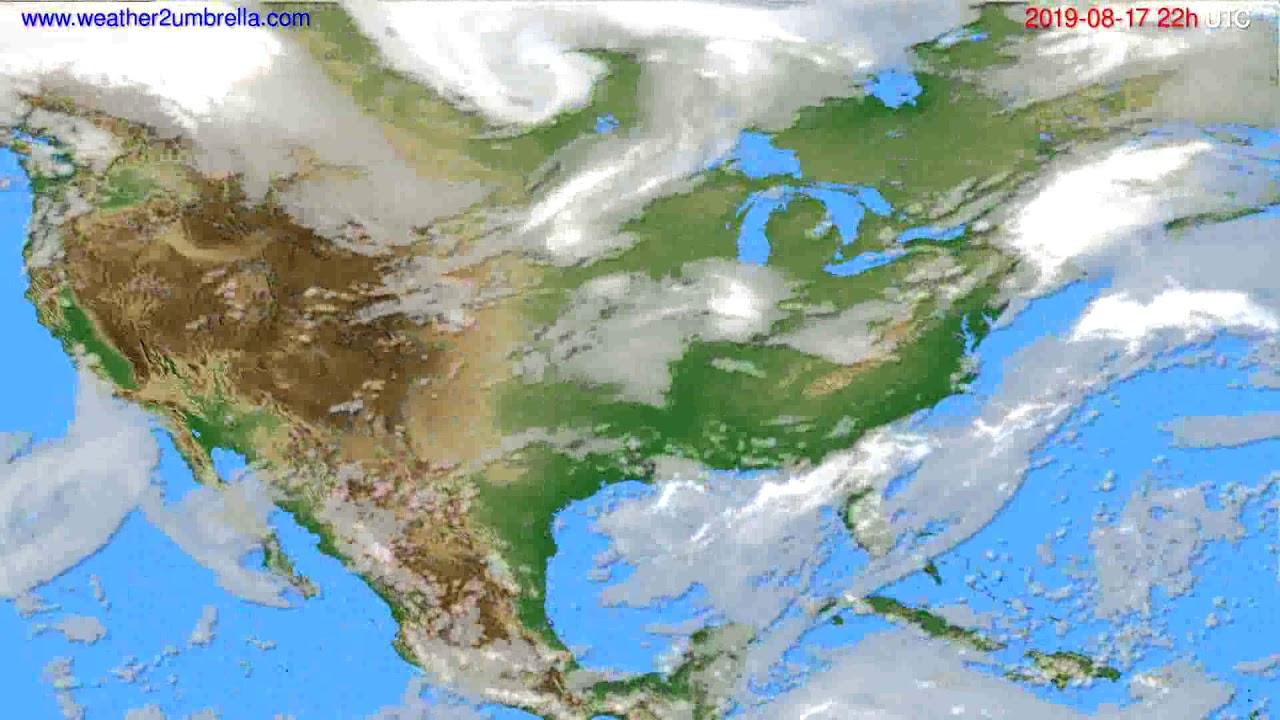Cloud forecast USA & Canada // modelrun: 00h UTC 2019-08-15