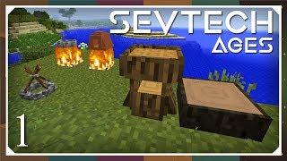 Sevtech: Ages | Grinder, Fluid Blader, Leather & Bed! | E02 (SevTech