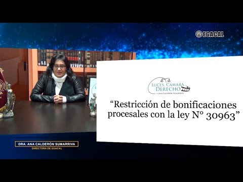 """RESTRICCIÓN DE BONIFICACIONES PROCESALES CON LA LEY N° 30963"""""""