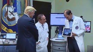 President Trump and Secretary of Veterans Affairs David Shulkin speech regarding Telehealth