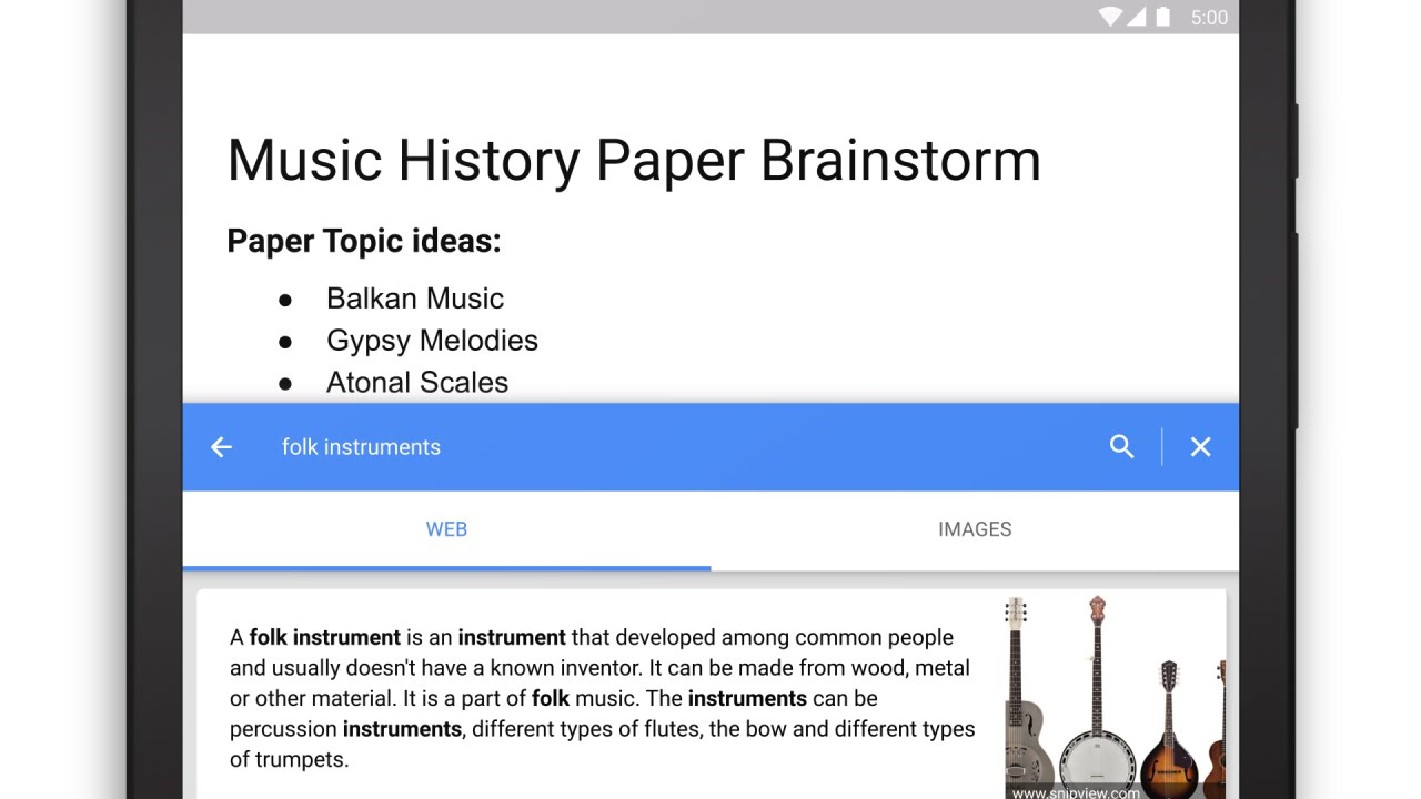 Research in Google Docs