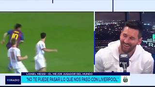 Lionel Messi reacts to his own best goals