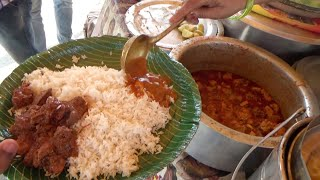 Amazing Indian Lady Selling Best Cheapest Veg & Non Veg Meals | Chicken Rice / Fish Rice / Boti Rice