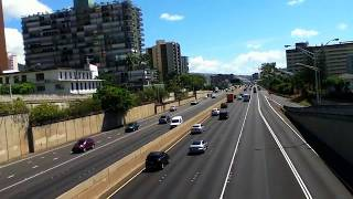 preview picture of video 'View from Ward Avenue overpass , Honolulu Hawaii October 2014'