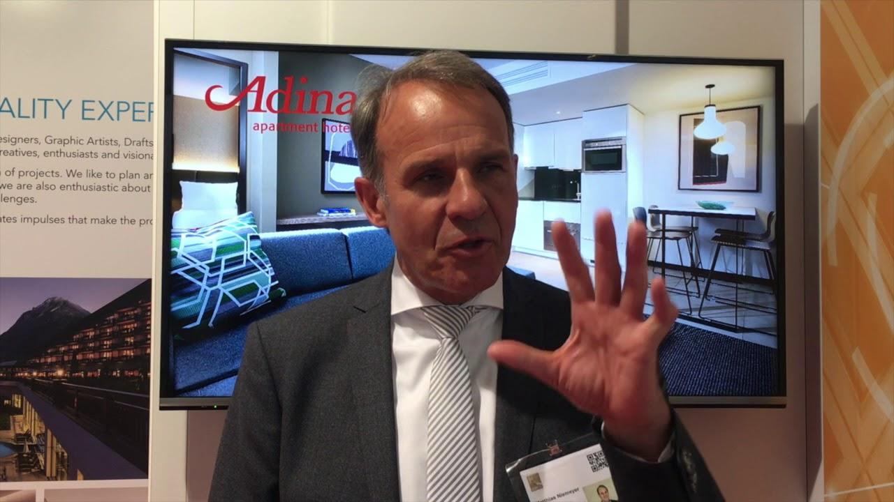SAN at IHIF 2018: Matthias Niemeyer, Adina Apartment Hotels