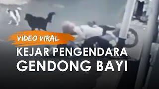 Video Viral Anjing Kejar Pengendara Motor yang Bawa Bayi hingga Jatuh, Pencinta Anjing Beri Imbauan