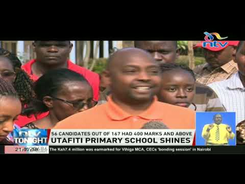 Utafiti Primary School: 56 candidates out of 167 had 400 marks and above
