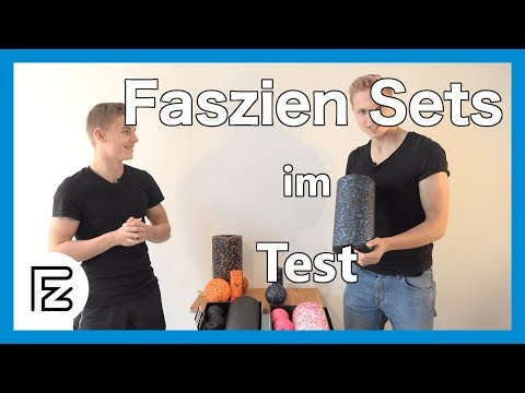 Faszienrolle Set im Test und Vergleich (Blackroll Set, Blackroll Orange Set, diMio Set)