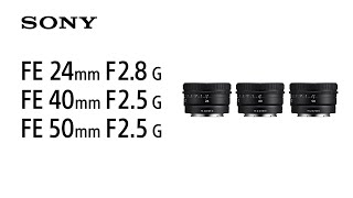 YouTube Video iABO50lj11o for Product Sony FE 40mm F2.5 G Lens (SEL40F25G) by Company Sony Electronics in Industry Lenses