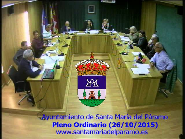 Pleno ordinario (26/10/2015)
