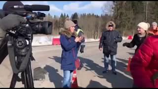 Губернаторское ТВ 360° опять выгнали с пикета в Ядрово
