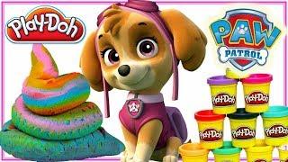 Play Doh & Psi Patrol 🐶 Tęczowa kupa 💩 bajki dla dzieci