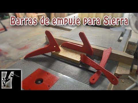 Barras de empuje para sierra de mesa || Seguridad en el taller