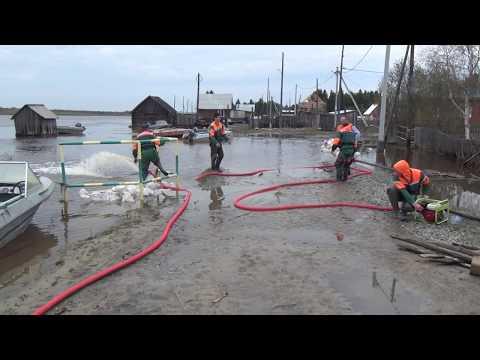 Аварийно-спасательная работа в Шурышкарском районе часть 3