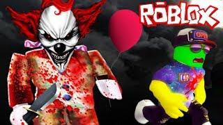 """СТРАШНЫЙ КЛОУН """"ОНО"""" в РОБЛОКС! СПАСАЙТЕСЬ КТО МОЖЕТ! Приключение мульт героя Roblox от Cool GAMES"""