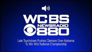 Late Touchdown Pushes Clemson Over Alabama To Win Wild National Championship (Audio)