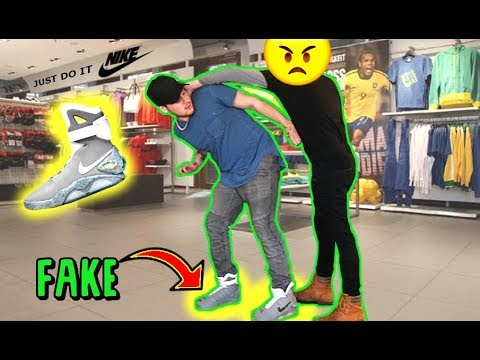 WEARING FAKE AIR MAGS TO NIKE EMPLOYEE STORE.. (Gone Wrong)