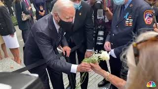Biden Consoles Mother at 9/11 Memorial in Pennsylvania | NBC New York