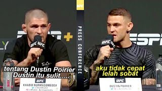 Ahead of UFC 242, here are Khabib Nurmagomedov and Dustin Poirier's comments