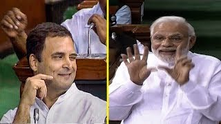 Rahul Gandhi's hug & wink act and how PM Modi responded | FULL VIDEO
