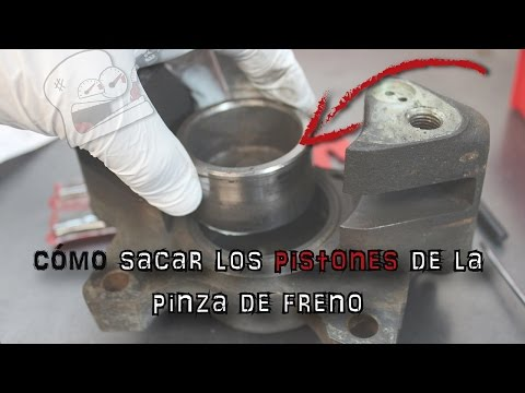 Cómo sacar los pistones de la pinza de freno | (En español)