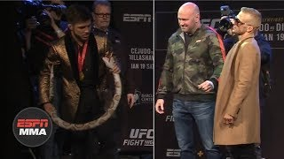 [FULL] T.J. Dillashaw vs. Henry Cejudo UFC Fight Night Brooklyn Press Conference | ESPN MMA