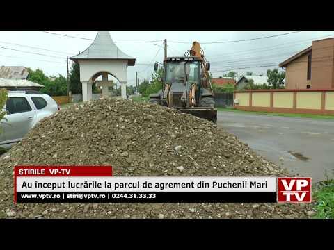 Au început lucrările la parcul de agrement din Puchenii Mari