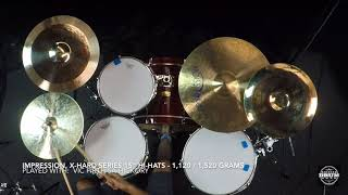 "Impression Cymbals, 15"" X-HARD Hi Hats - 1,120g / 1,520g"