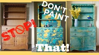 Four Color Paint Layering, Blending & A Story About Ruining Antique Furniture?