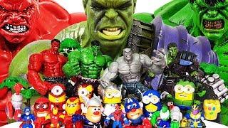 Gladiator Hulk Smash! Avengers, Spider-Man, Iron Man, Thor, Captain America, Minions
