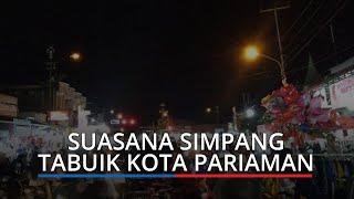 Suasana Malam Takbiran di Simpang Tabuik Kota Pariaman, Ramai Pedagang dan Pembeli