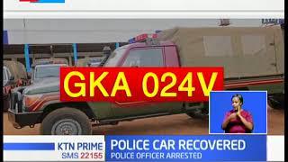 Kenya Police Officer steals Kenya Police vehicle, he's arrested by Kenya Police