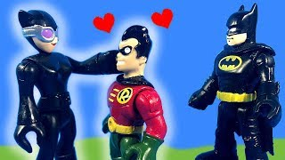 Imaginext Robin Likes Catwoman And Takes Batmans Bat-Pod