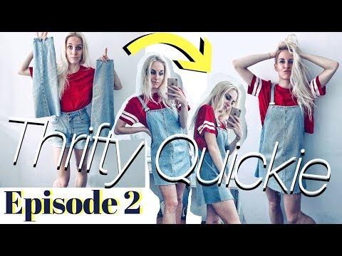 Thrifty Quickie Ep. 2 | Latzkleid aus abgeschnittenen Hosenbeinen (aka den Opfern eurer DIY Shorts)