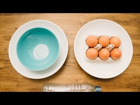 Separate Egg Yolk with a Water Bottle