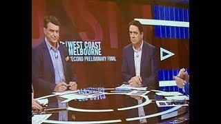 2018 2nd Preliminary Final - West Coast V Melbourne Half Time Fox Footy
