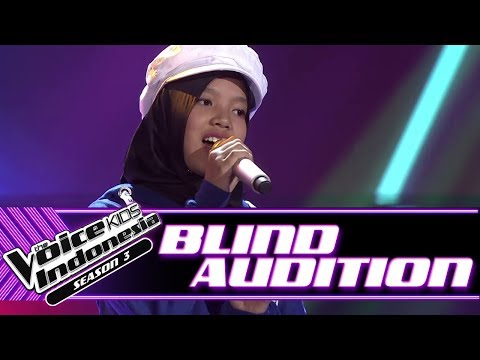 Shakila - Almost Is Never Enough | Blind Auditions | The Voice Kids Indonesia Season 3 GTV 2018