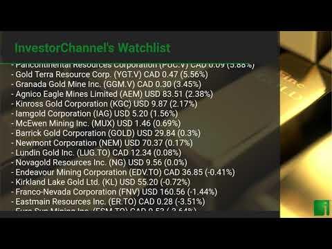 InvestorChannel's Gold Watchlist Update for Wednesday, August 05, 2020, 16:30 EST