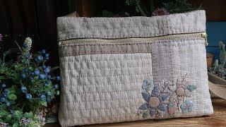 퀼트 자수 가방 만들기 │ How To Make A Quilt Embroidery Bag │ DIY Craft Tutorial