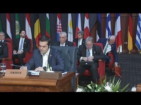 Πλάνα απο τη σύνοδο Ευρωπαϊκής Ένωσης – Αραβικού Συνδέσμου