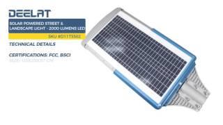 Solar Powered Street & Landscape Light - 2000 Lumens LED