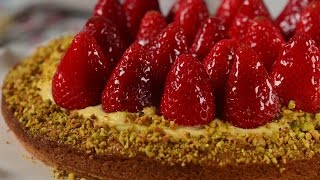 Strawberry Breton Tart Recipe Demonstration – Joyofbaking.com