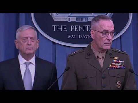 Pentagon briefing on Syria military strike