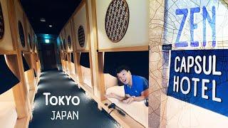 $30 ZEN CAPSULE HOTEL in Tokyo Japan